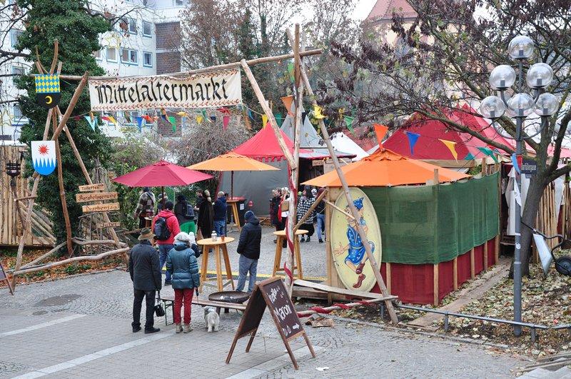 Mercado de Natal Pforzheim Alemanha - Entrada do Mercado Medieval