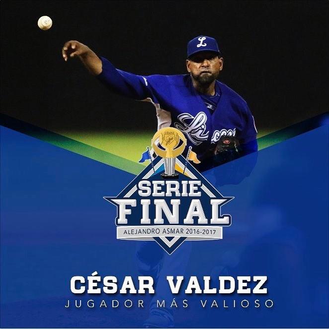 César Valdez fue elegido MVP de la Serie Final