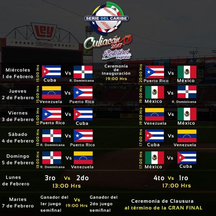 Calendario Serie Del Caribe Culiacán 2017
