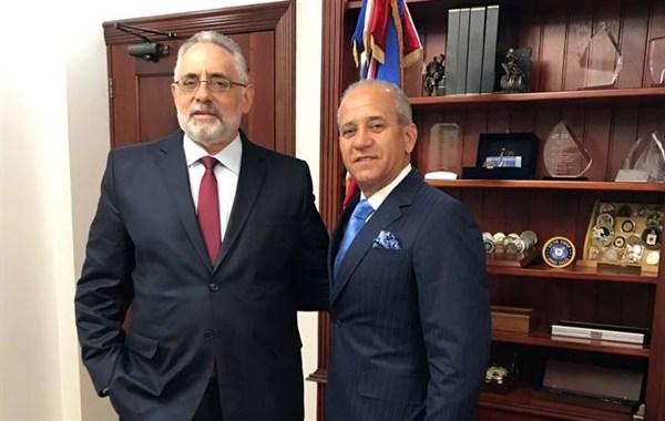 Presidente de LIDOM se reúne con el director del DNI