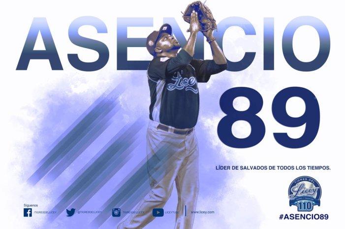 Jairo Asencio se adueña del récord de salvamentos en Lidom; Tigres vencen a Leones