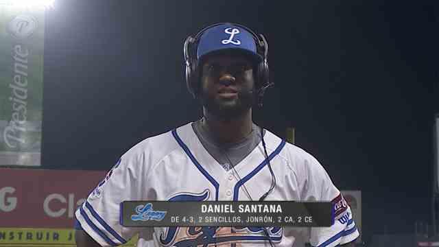 Danny Santana solo pensó en conectar con la pelota