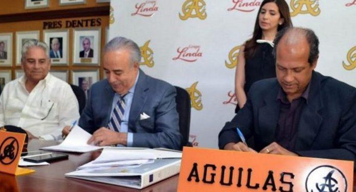 Presidencia de LIDOM se reúne con directivos y accionistas de Águilas Cibaeñas