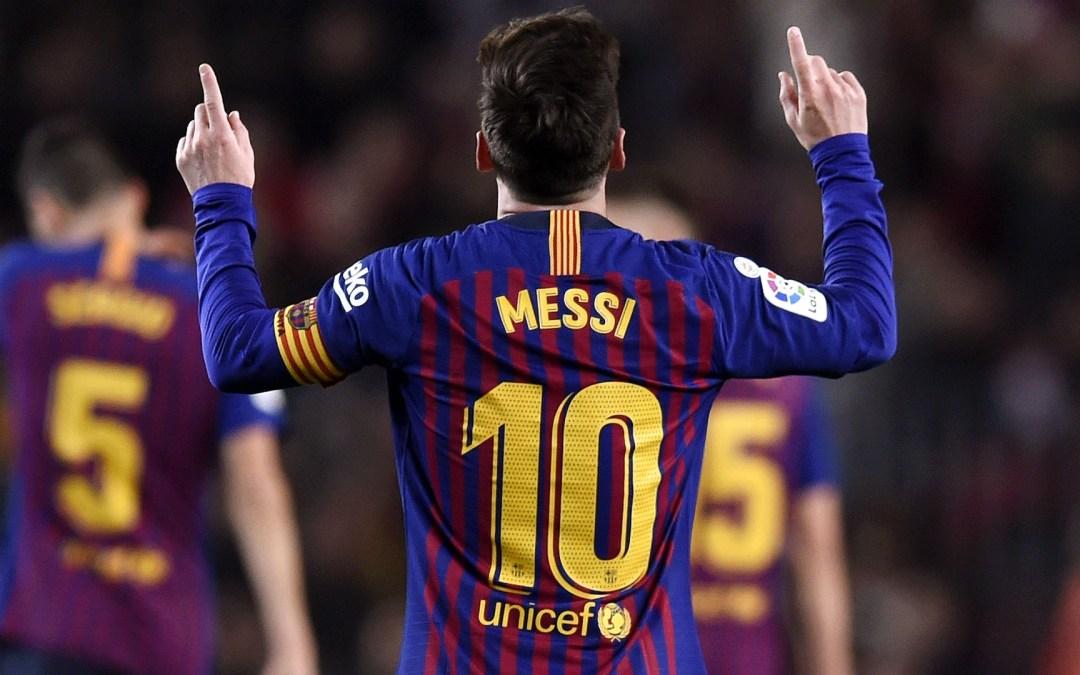 FC Barcelona sărbătorește al 400lea gol marcat de Lionel Messi în La Liga
