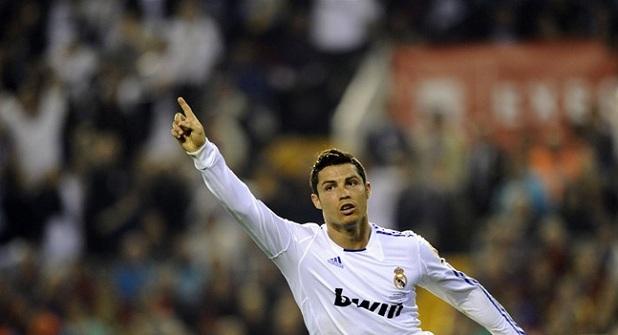 cristiano celebrando el gol en la final de copa