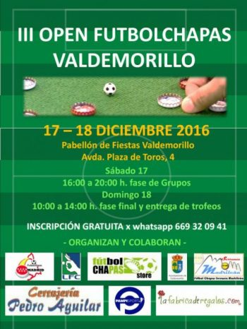 Cartel del I Open de Valdemorillo