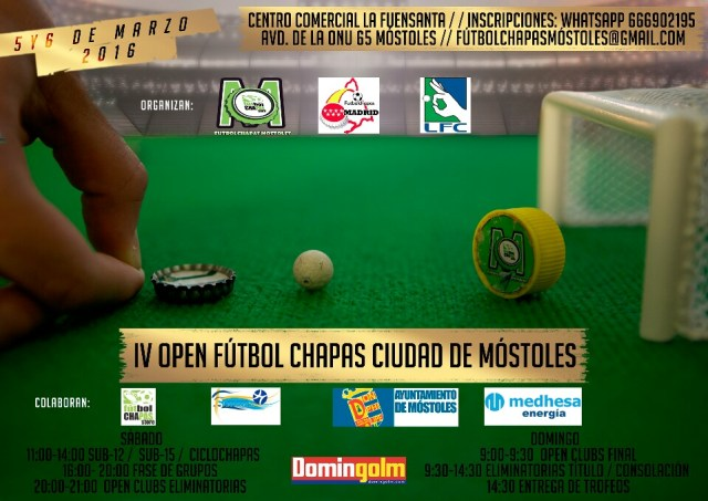 Cartel Open Mostoles