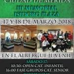 """INSCRIPCIONES ABIERTAS PARA VIII OPEN """"CIUDAD DE MÉRIDA"""" (III MEMORIAL ISIDORO PLAZA)"""