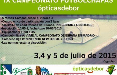 IX Campeonato FutbolChapas OpticasDebor Tenerife