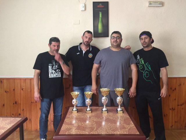 Tres de los posibles campeones de la Liga castellonense, tras disputarse el Torneo por Parejas