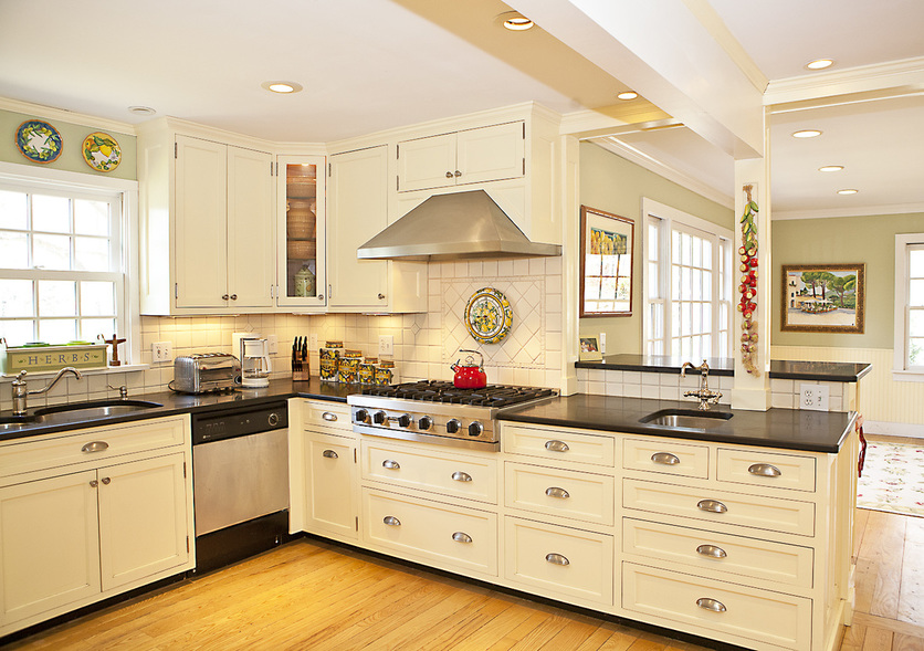 kitchen desk stainless steel packages shaker style eat in area stoarge storage liggett portfolio