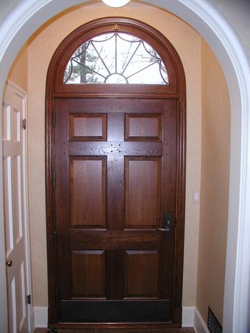 Distressed Oak Entry Door Liggett Portfolio