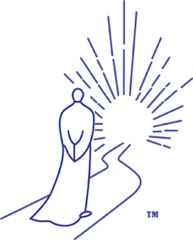 Buddha Consciousness monk on light path logo