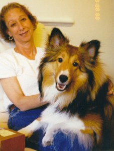 Rev Diane Chapin with her dog, Kelsie