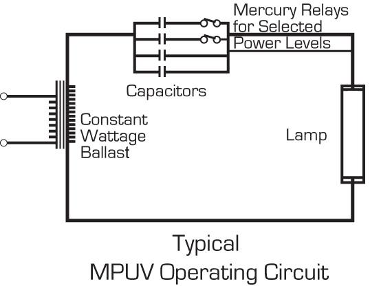 circuit diagram of mercury vapor lamp