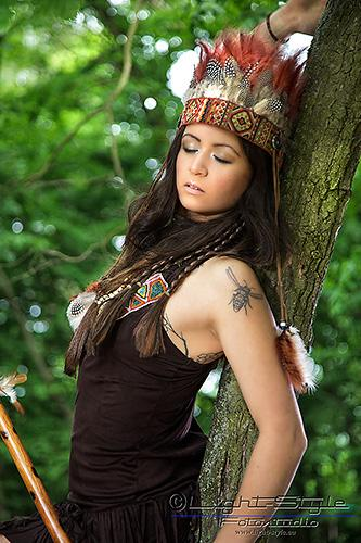 , Pocahontas-Shooting– funny making of, Fotostudio Light-Style`s Blog