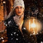 Winterstimmung 1 31 - Lingerie in der Burg - outdoor, modelle, glamour, allgemein, aktfotos, abseits-des-alltags - outdoor, Glamour, Frauen, erotische Porträts, Draußen, Aktfotos