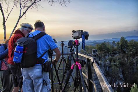 Sunrise unter Fotografen kl 1200x799 - sächsische Schweiz - traumhafte Natur - outdoor, naturfotos, natur-staedte-deutschland, natur, allgemein - Sachsen, Naturfotos, Deutschlands schöne Seiten