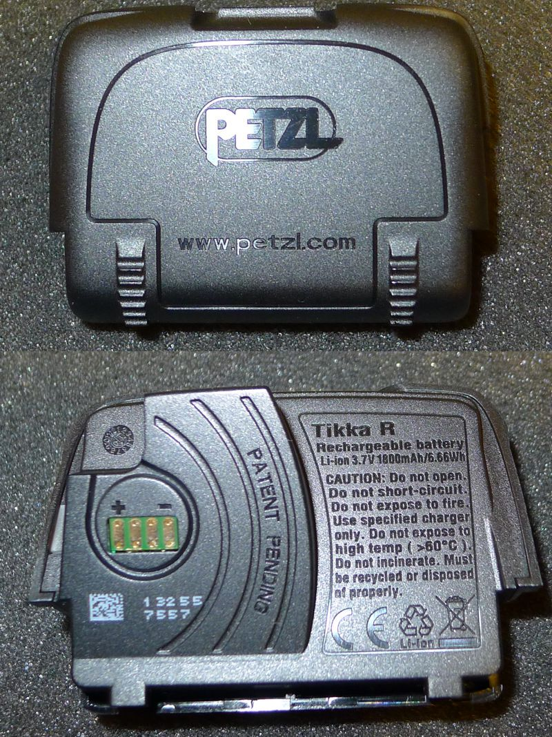 Petzl Tikka R - battery