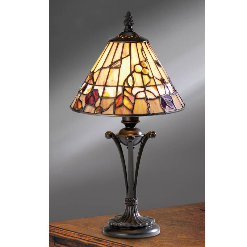 Bernwood Small Table Lamp Nature Traditional Small Table Lamp TG62S Tiffany style