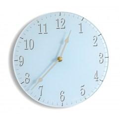 Blue Kitchen Wall Clocks Napa Style Island Pastel Contemporary Acrylic Glass Clock Round Soft