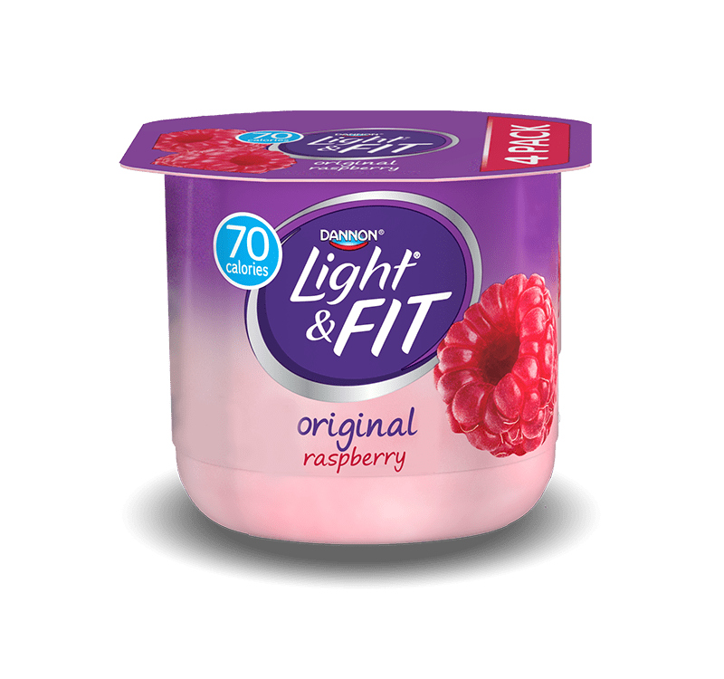 It is an image of Clean Dannon Light and Fit Blueberry Greek Yogurt Nutrition Label