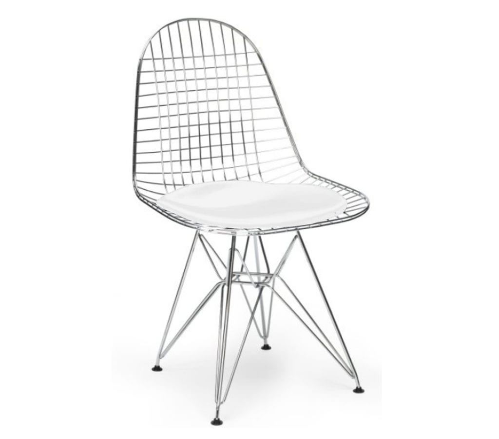 wire dining chairs red office chair no wheels charles and ray eames style dkr light glory