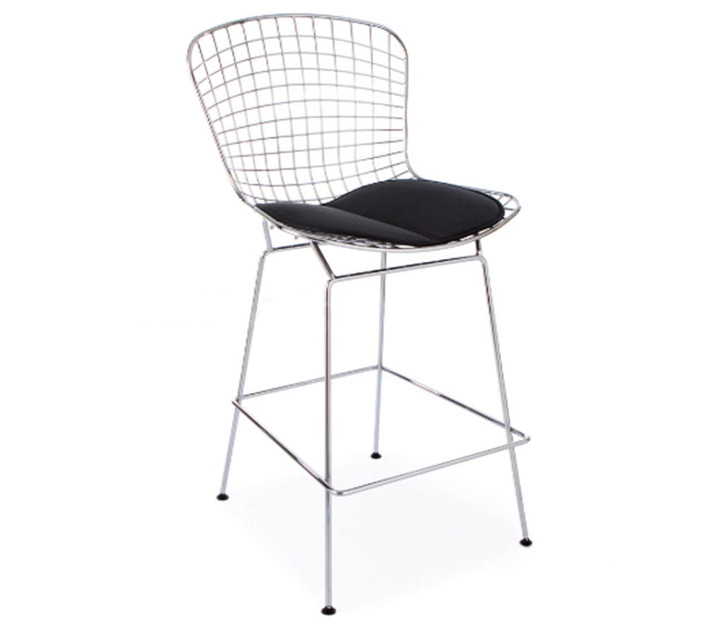 wire mesh dining chairs uk fisher price rainforest high chair recall harry bertoia style bar stool light and glory