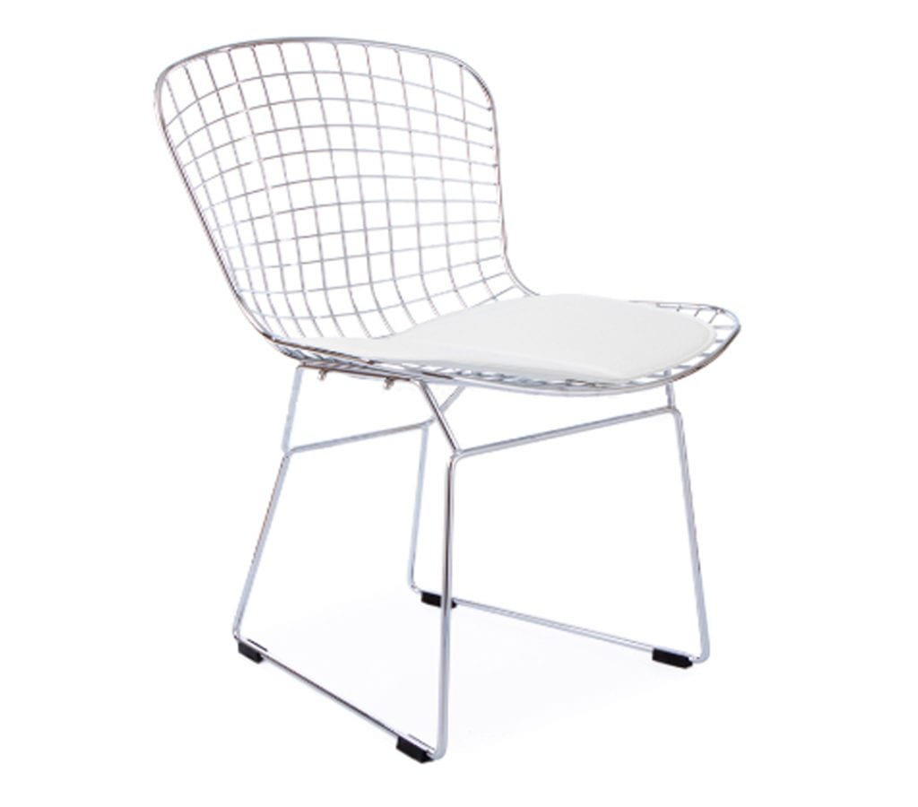 bertoia style chair white bouncy for baby age harry wire bar stool light and glory
