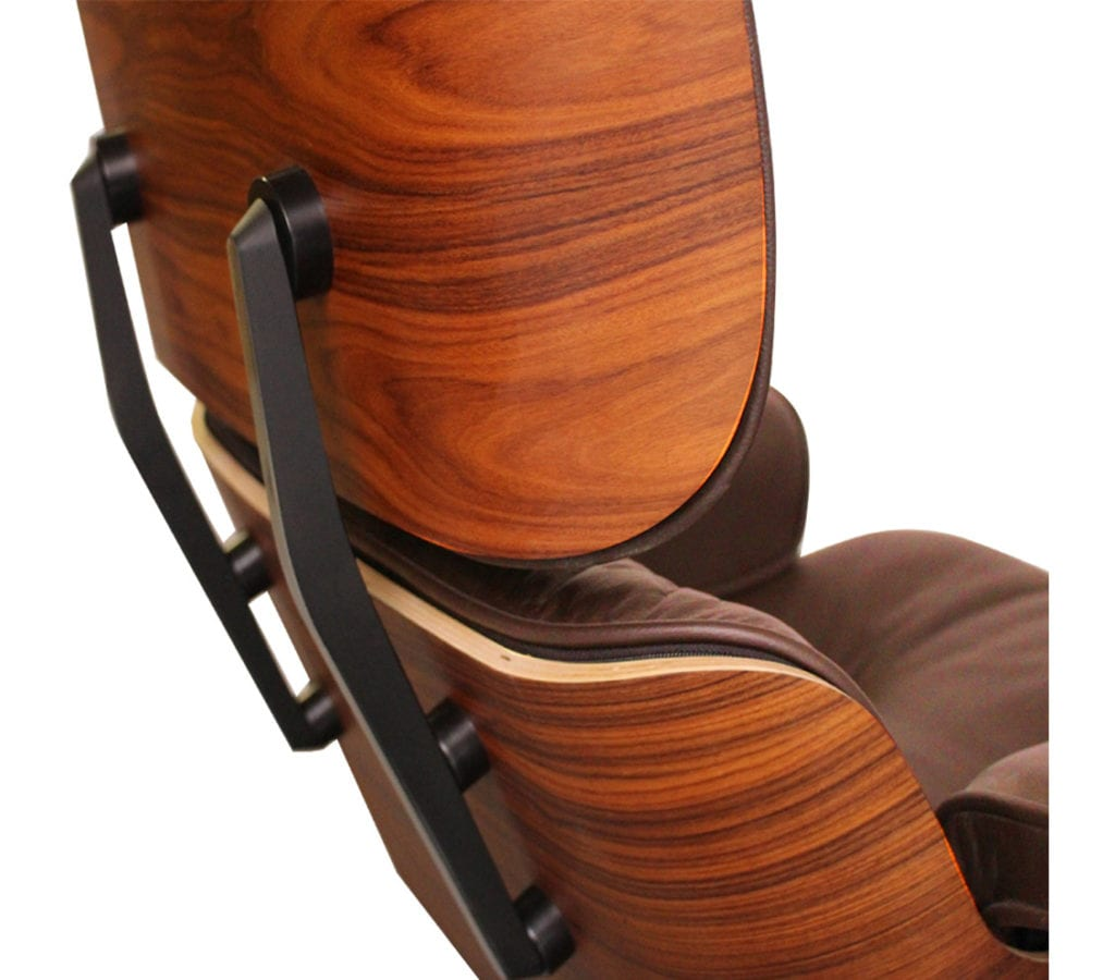 eames style lounge chair and ottoman rosewood black leather high birthday decorations brown charles ray
