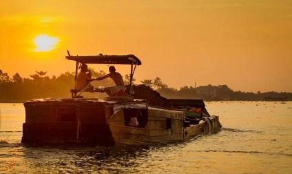River Boat, Mekong River, Vietnam