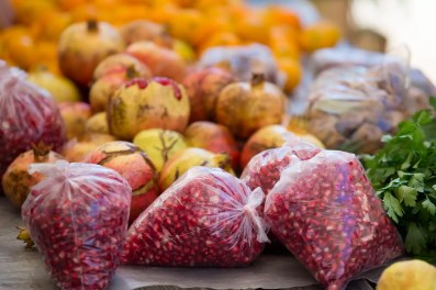 Pomegranates are common in Dubrovnik, and some sellers would pre-peel them and sell them in plastic bags.