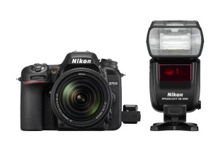 D7500 with the optional radio-flash module and SB-5000 flash.