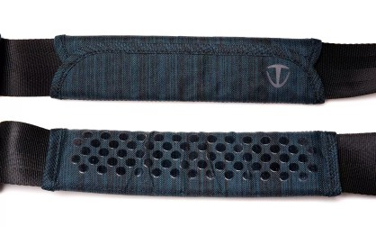 This composite image shows the top and under-sides of the strap padding.