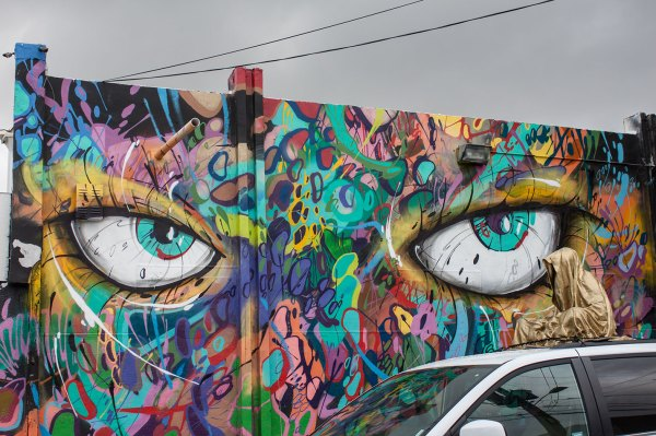 Wynwood Walls Miami Florida Usa Guardians Of Time