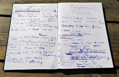 המחברת של מארקי פאנק עם הרעיונות שהובילו להתחלת העבודה על האלבום החדש