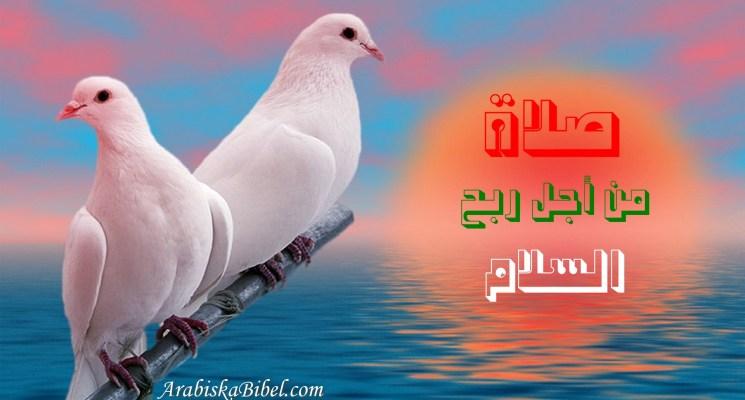 صلاة من أجل ربح السلام، فربح السلام أصعب من ربح الحرب