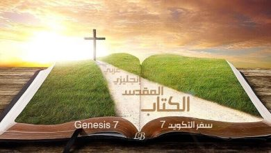Genesis 7 – In English and Arabic with Audio to Read and Listen (KJV)