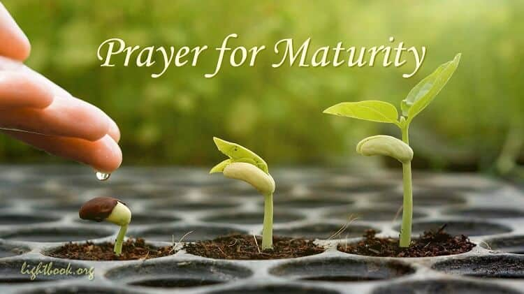 Prayer for Maturity - Bring My Emotions Under the Control of the Holy Spirit