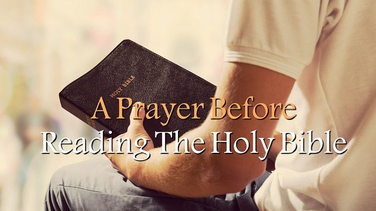 Prayer Before Reading the Bible