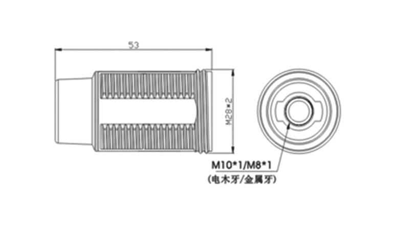 e14 light socket with thread & lock screw