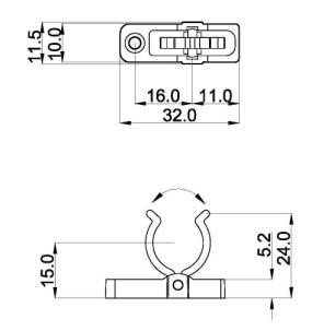 T5 Screw fixing for led fluorescent lamp holders G5