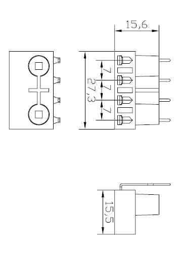 2G7 Surface mounted four needle Plug in lamp holders