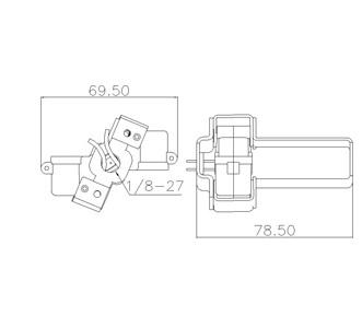 E12 Phenolic Candelabra Lamp Socket Base Cluster