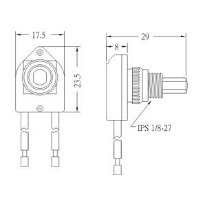 Push botton switch PS17-1