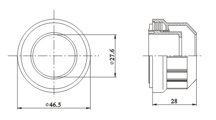 Sleeve for T8 lamps diameter 26 mm