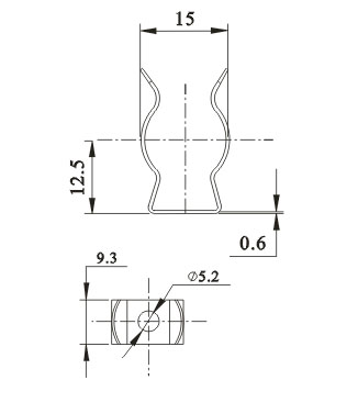 UV CFL Lamp support metal bracket for T5 lamps