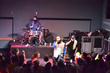 Social Club and their fans rock out together at Zeke's in Ames, Iowa