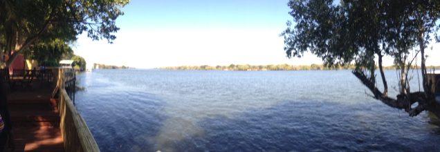 Wide angle of Zambesi river