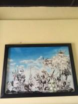 Nonostante il recupero filologicamente approssimativo, operato negli anni '40 dalla United Fruit Company, la qualita' prospettica del sito spinge il pensiero a ritroso fino allo 1525, quando gli orgogliosi Maya Mam, signori di Zaculeu, gia' messi in fuga verso il Chiapas, dai bellicosi Maya K'iche' , dovettero cedere per fame e sete all'assedio di Gonzalo de Alvarado. Le rovine rispondono ancora cromaticamente e semanticamente al bianco = Zak e alla terra = Uleu, , esaltato dallo sfondo verdeggiante a perdita d'occhio delle montagne ricoperte di vegetazione. e dallo sfacciato blu del cielo. Davvero luminoso l'insieme.